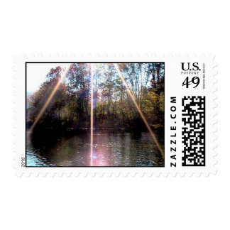 Sunburst Over The Clinch River, Southwest Virginia Stamps