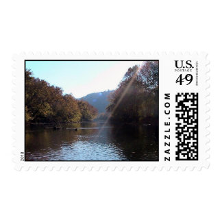 Sunburst Over The Clinch River, Southwest Virginia Postage