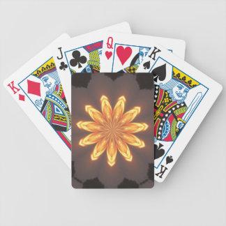 Sunburst pattern bicycle playing cards