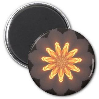 Sunburst pattern 2 inch round magnet