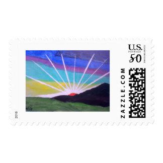 Sunburst Postage Stamp