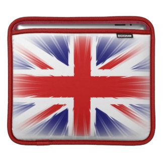 Sunburst Rays of light Flag of the United Kingdom. Sleeve For iPads