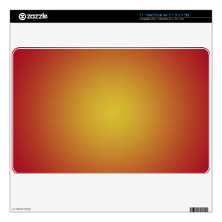 Sunburst Red Laptop Cover Skins For MacBook