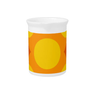 Sunburst Repeatable Circle Pattern Beverage Pitcher