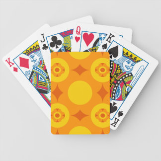 Sunburst Repeatable Circle Pattern Bicycle Playing Cards