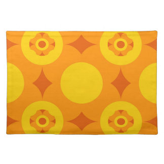 Sunburst Repeatable Circle Pattern Cloth Placemat