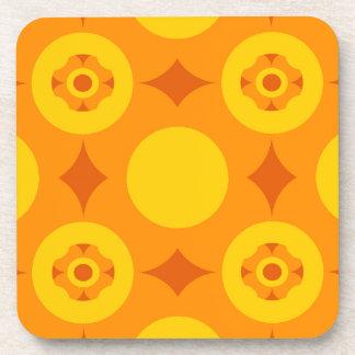 Sunburst Repeatable Circle Pattern Coaster