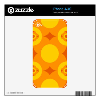 Sunburst Repeatable Circle Pattern Decal For The iPhone 4