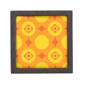 Sunburst Repeatable Circle Pattern Gift Box