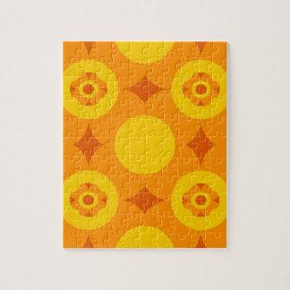 Sunburst Repeatable Circle Pattern Jigsaw Puzzle