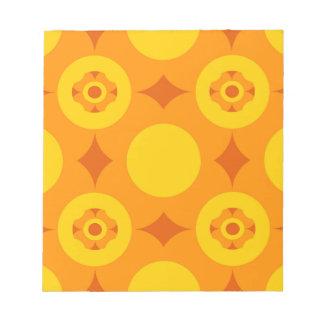 Sunburst Repeatable Circle Pattern Notepad