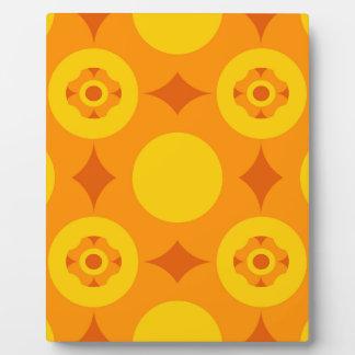 Sunburst Repeatable Circle Pattern Plaque