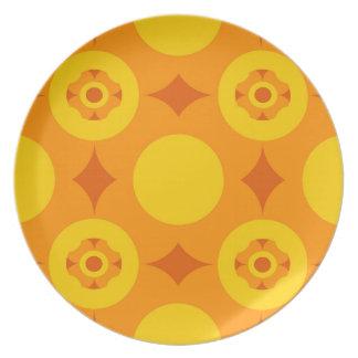 Sunburst Repeatable Circle Pattern Plate