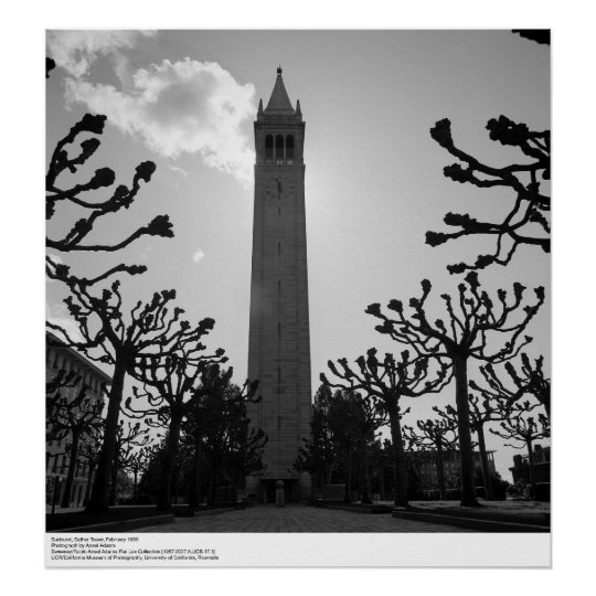 Sunburst, Sather Tower, February 1966 Poster