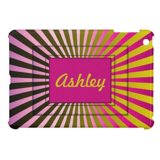 Sunburst Stripes Name iPad Mini Case