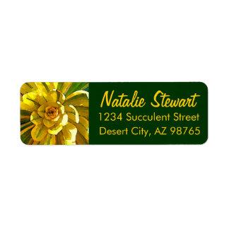 Sunburst Succulent by Amy Vangsgard Return Address Label