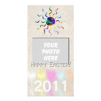 Sunburst & Tulips Easter Photo Card
