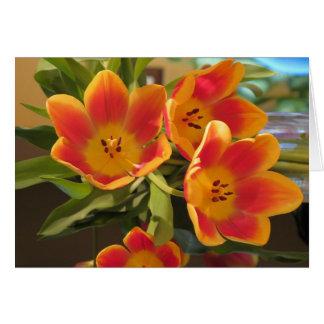 Sunburst tulips - Possibilities Card