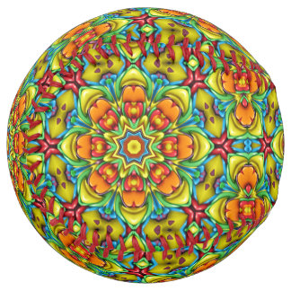 Sunburst Vintage Kaleidoscope  Softball