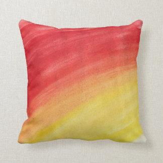 Sunburst watercolor pillow