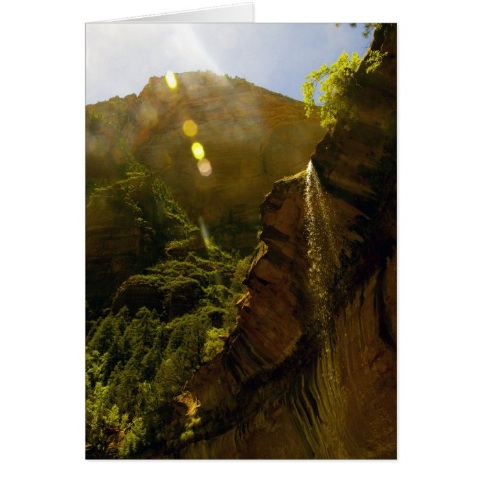 Sunburst Waterfall Card