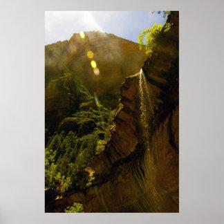 Sunburst Waterfall poster