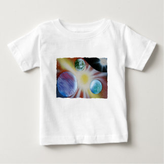Sunburst with planets spray paint spraypainting baby T-Shirt