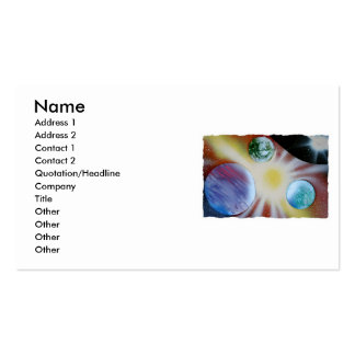 Sunburst with planets spray paint spraypainting business card