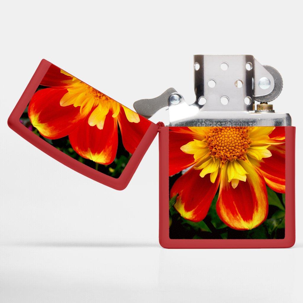 Sunburst Zinnia Zippo Lighter