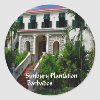 Sunbury Plantation in Barbados Classic Round Sticker