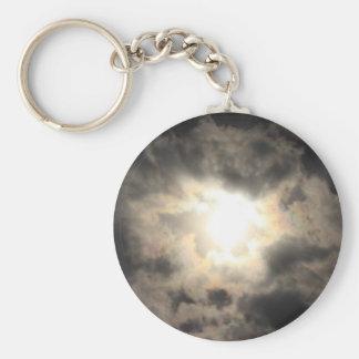 SunClouds.JPG Basic Round Button Keychain