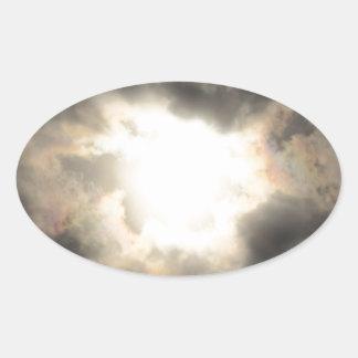 SunClouds.JPG Oval Sticker