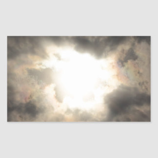 SunClouds.JPG Rectangular Sticker