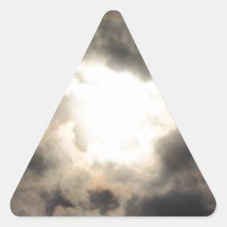SunClouds.JPG Triangle Sticker