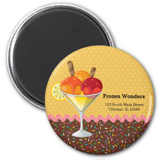 Sundae * choose background color 2 inch round magnet
