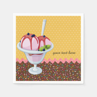 Sundae * choose background color napkin