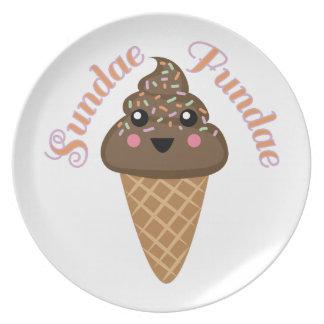 Sundae Fundae Melamine Plate
