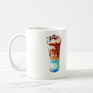 Sundae ice-cream classic white coffee mug