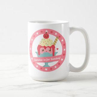 Sundae is for Sunday! Cute Cartoon Sundae Coffee Mug