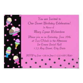 Sundae Shoppe Party Card