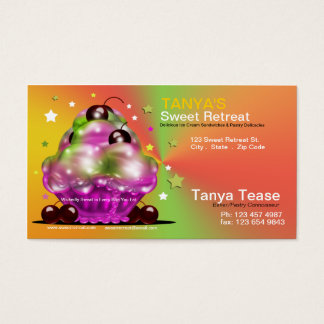 Sundae with Tart Cherry Toppings Business Card