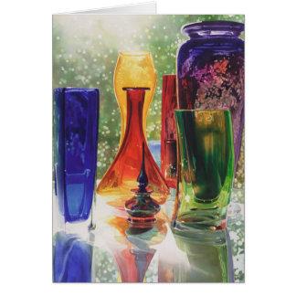 """Sundance"" Art Glass Watercolor Greeting Card"