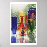 """Sundance"" Art Glass Watercolor Painting Poster"