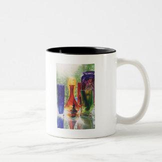 """Sundance"" Art Glass Watercolor Painting Two-Tone Coffee Mug"