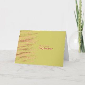 Sundance Be My Ring Bearer Invitation Card card