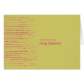 Sundance Be My Ring Bearer Invitation Card