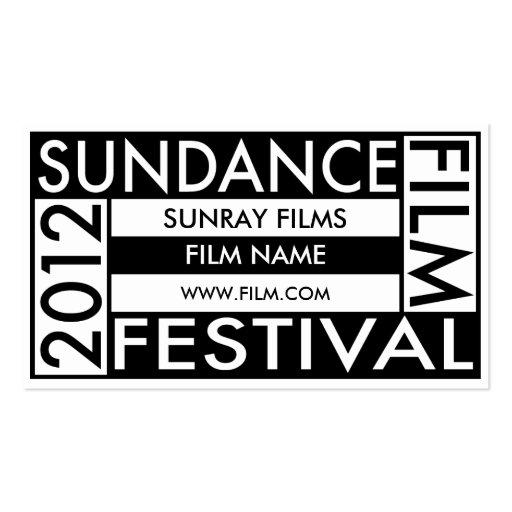 SUNDANCE FILM FESTIVAL 2012 BUSINESS CARD