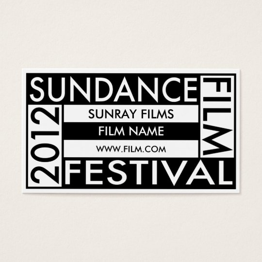SUNDANCE FILM FESTIVAL 2012 BUSINESS CARD