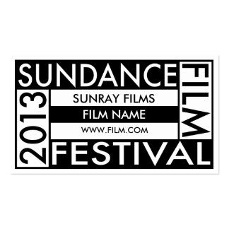 Sundance Film Festival 2013 Double-Sided Standard Business Cards (Pack Of 100)