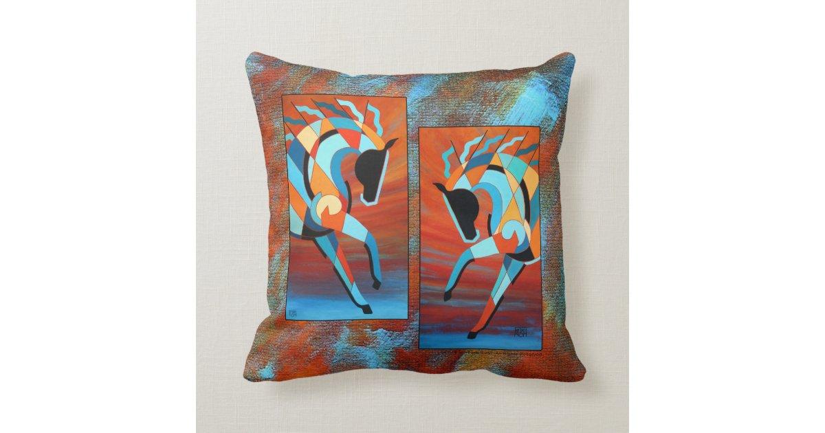 SunDancer Horse Throw Pillow 16x16 Zazzle